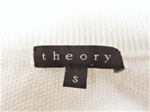 セオリー theory 七分袖セーター サイズS レディース 白 綿、麻、ポリエステル【中古】