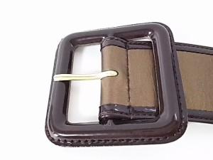 エムプルミエブラック M-premierBLACK ベルト レディース ゴールド×ダークブラウン 合皮【中古】