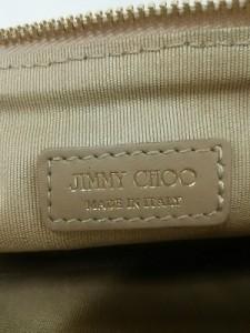 ジミーチュウ JIMMY CHOO ハンドバッグ レディース 美品 - ゴールド×マルチ グリッター×レザー【中古】