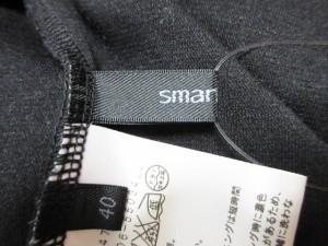 スマートピンク smartpink ワンピース サイズ40 M レディース 黒×グレー ドルマンスリーブ【中古】