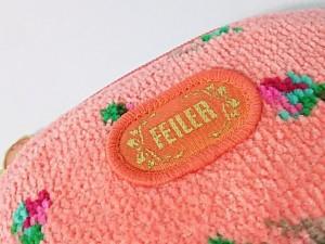 フェイラー FEILER ポーチ レディース 美品 オレンジ×マルチ パイル【中古】