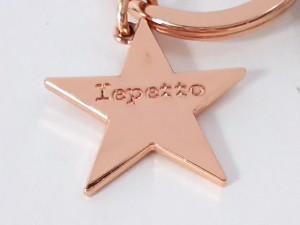 レペット repetto キーホルダー(チャーム) レディース ライトブラウン×ピンクゴールド ミラー/スター 合皮×金属素材【中古】