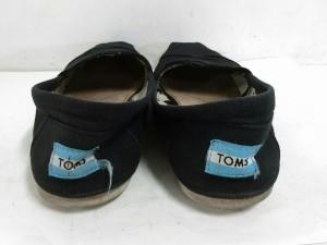 トムス TOMS フラットシューズ 6M レディース 黒 キャンバス【中古】