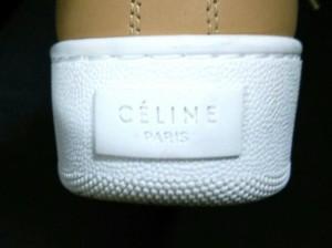 セリーヌ CELINE スニーカー 36 レディース 美品 ベージュ ハイカット レザー【中古】
