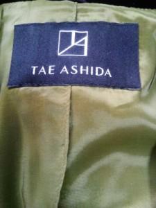 タエアシダ TAE ASHIDA ジャケット サイズ7 S レディース ライトグリーン×黒 肩パッド【中古】