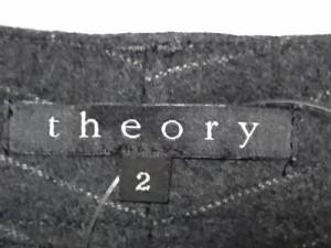 セオリー theory パンツ サイズ2 S レディース ダークグレー×ライトグレー ストライプ【中古】