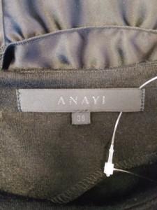 アナイ ANAYI ワンピース サイズ38 M レディース 黒 フリル【中古】