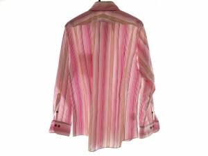 バーバリーブラックレーベル Burberry Black Label 長袖シャツ サイズ3 L メンズ ピンク×白×マルチ ストライプ【中古】