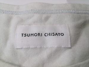 ツモリチサト TSUMORI CHISATO ワンピース サイズ2 M レディース 白×黒×ゴールド【中古】