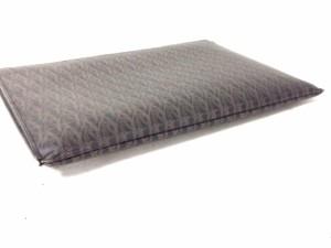 サンローランパリ SAINT LAURENT PARIS クラッチバッグ レディース 375950 黒×ダークブラウン PVC(塩化ビニール)【中古】