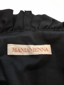 マニアニエンナ MANIANIENNA ワンピース サイズS レディース 黒 フリル/巻きワンピ【中古】