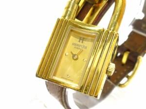 エルメス HERMES 腕時計 ケリー - レディース 革ベルト/〇Y ゴールド【中古】