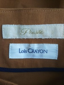 ロイスクレヨン Lois CRAYON ジャケット レディース ブラウン×ベージュ【中古】