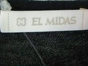 エルミダ EL MIDAS 長袖セーター サイズ40 M レディース 美品 黒 ラインストーン【中古】