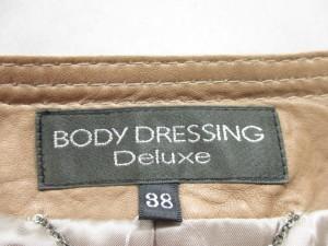 ボディドレッシングデラックス BODY DRESSING Deluxe ライダースジャケット サイズ38 M レディース ブラウン 春・秋物【中古】