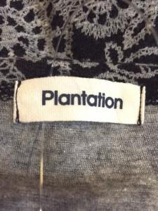 プランテーション Plantation ワンピース サイズ2 M レディース 黒×グレー【中古】