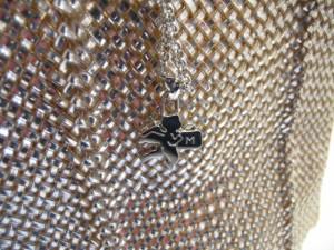 マミューズ MAMUZ ショルダーバッグ レディース シャンパンゴールド 編みこみ PVC(塩化ビニール)×レザー【中古】