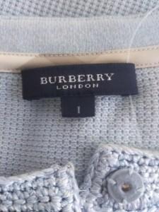 バーバリーロンドン Burberry LONDON カーディガン レディース 美品 ライトブルー【中古】