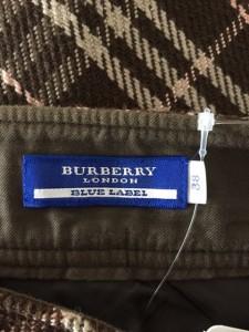バーバリーブルーレーベル スカート サイズ38 M レディース ダークブラウン×ベージュ×ピンク チェック柄【中古】