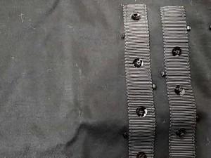 ランバンオンブルー LANVIN en Bleu 半袖Tシャツ レディース 黒 スパンコール/ビーズ【中古】