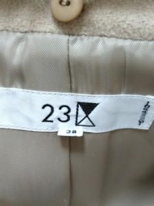 ニジュウサンク 23区 コート サイズ38 M レディース 美品 ベージュ 冬物/ファー【中古】