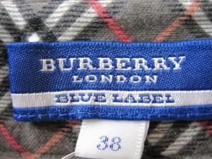 バーバリーブルーレーベル Burberry Blue Label 半袖シャツブラウス サイズ38 M レディース ベージュ×ピンク×マルチ【中古】