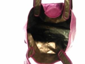 ゲラルディーニ GHERARDINI トートバッグ レディース ボルドー リバーシブル PVC(塩化ビニール)×レザー【中古】