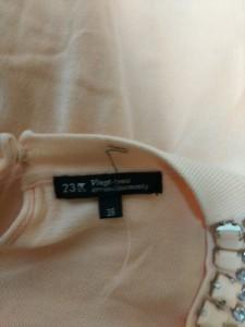 ニジュウサンク 23区 長袖セーター サイズ38 M レディース ベージュ ビジュー【中古】