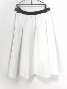 ギャラリービスコンティ GALLERYVISCONTI スカート サイズ2 M レディース 美品 白×黒 リボン【中古】