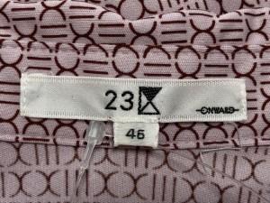 ニジュウサンク 23区 長袖シャツブラウス サイズ46 XL レディース ピンク×ボルドー【中古】