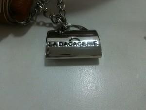 ラバガジェリー LA BAGAGERIE ハンドバッグ レディース ベージュ×ブラウン かごバッグ ストロー×レザー【中古】