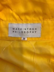 マッキントッシュフィロソフィー MACKINTOSH PHILOSOPHY コート サイズ36 M レディース イエロー フード取り外し可/春・秋物【中古】