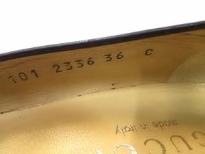 グッチ GUCCI パンプス 36C レディース ダークブラウン レザー【中古】