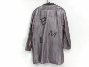 ピエールバルマン PIERRE BALMAIN コート サイズF レディース ライトピンク 冬物/レザー【中古】