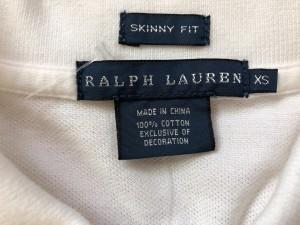 ラルフローレン RalphLauren 半袖ポロシャツ サイズXS レディース アイボリー×ライトブルー【中古】