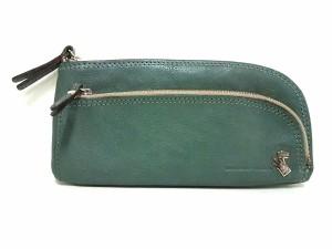 195739a33ea8 ペレボルサ PELLE BORSA 長財布 レディース 美品 ライトグリーン×ベージュ L字ファスナー レザー