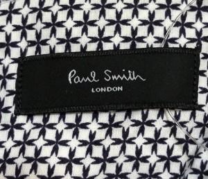 ポールスミス PaulSmith 長袖シャツ サイズM メンズ 白×黒【中古】