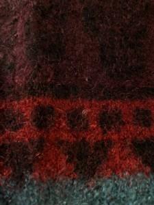 ポールスミスジーンズ PaulSmithJEANS 長袖セーター レディース ダークグレー×ボルドー×マルチ【中古】