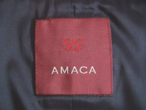 アマカ AMACA スカートスーツ サイズ40 M レディース ネイビー×黒×白【中古】
