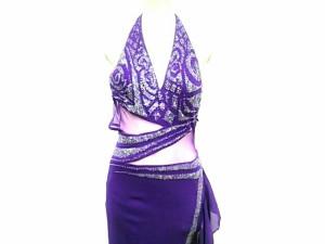 edda44ad8ff22 スワローテイル Swallowtail ドレス サイズ9 M レディース パープル メッシュ スパンコール 中古