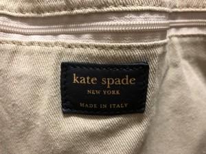 ケイトスペード Kate spade トートバッグ レディース アイボリー×黒×レッド キャンバス×レザー【中古】