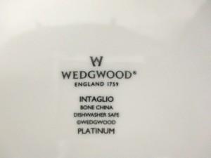 ウェッジウッド WEDG WOOD プレート レディース 新品同様 インタグリオ 白×シルバー 陶器【中古】