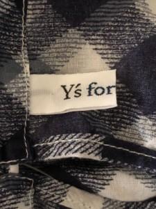 ワイズフォーリビング Y's for living ノースリーブカットソー レディース ネイビー×ブルー×アイボリー チェック柄【中古】