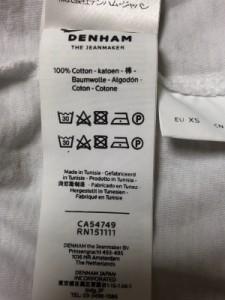 デンハム DENHAM 半袖Tシャツ サイズXS メンズ 白【中古】