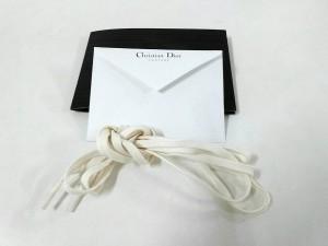 ディオールオム Dior HOMME スニーカー 41 メンズ アイボリー スエード×レザー【中古】