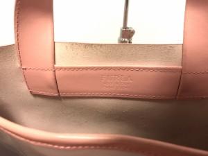 フルラ FURLA トートバッグ レディース 美品 ピンク×イエロー×マルチ ドット柄 レザー【中古】