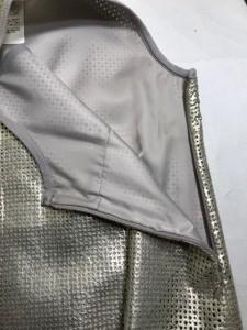 スタニングルアー STUNNING LURE スカートセットアップ サイズF レディース ゴールド×グレー パンチング【中古】