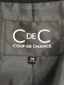クードシャンス CdeC COUP DE CHANCE コート サイズ38 M レディース 黒【中古】