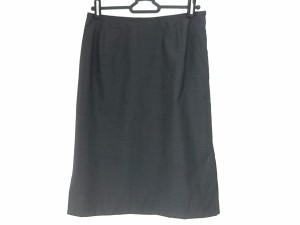 ニジュウサンク 23区 スカート サイズ38 M レディース 美品 ダークグレー【中古】