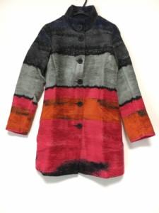 デシグアル Desigual コート サイズ36 M レディース 美品 黒×ピンク×マルチ 冬物【中古】